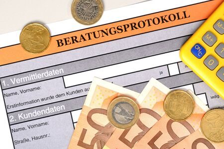 bank statement: german bank statement Stock Photo