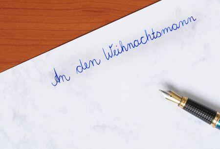 wish list: Wish list with fountain pen