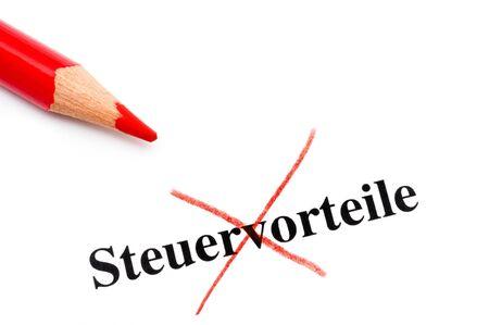 deselect: Crossed tax benefits in German language