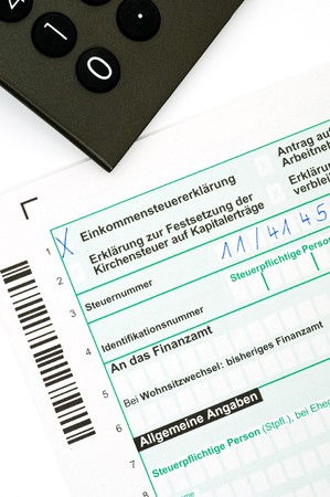 tax form: German tax form  Stock Photo