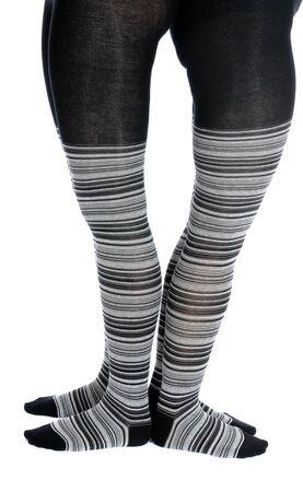 catena: Legs in a grey pattern pantyhose