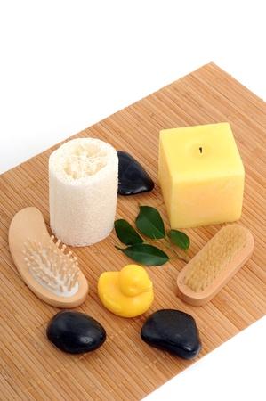 lastone therapy: Prepartions for a lastone therapy Stock Photo