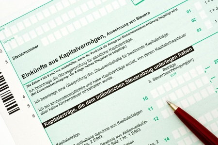 tax form: Official German tax form