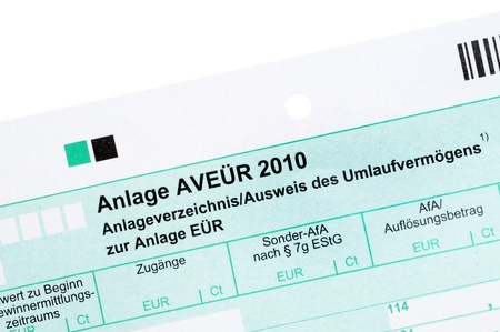 German tax form in front of a white background Stock Photo - 9543153