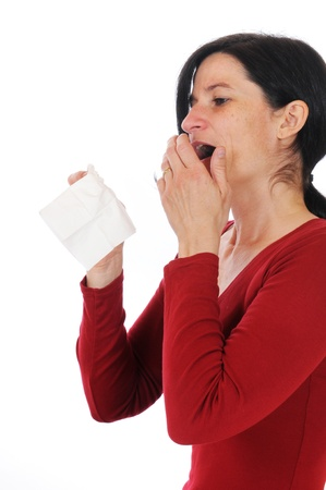 Mid adult woman has caught a flu Stock Photo - 9994321