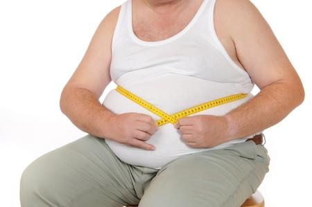 FAT man aislado en blanco