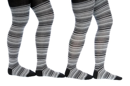 Legs in a grey pattern pantyhose Stock Photo - 10314912