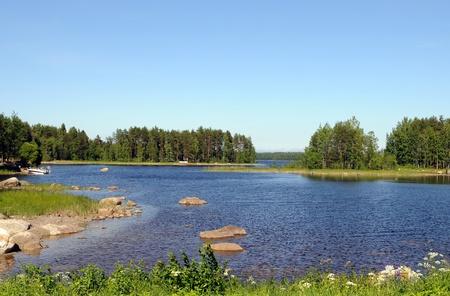 finland�s: Paisaje t�pico finland�s, aqu�, cerca de Savonranta