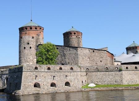 scandinavian peninsula: Olavinlinna castle near Savonlinna in Finland Stock Photo