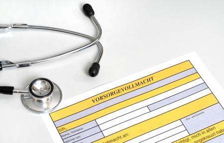 medizin: Vorsorgevollmachten spielen heutzutage eine immer wichtigere Rolle  Advanced directives are very important today