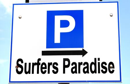 surfers paradise: Parking sign for surfers paradise
