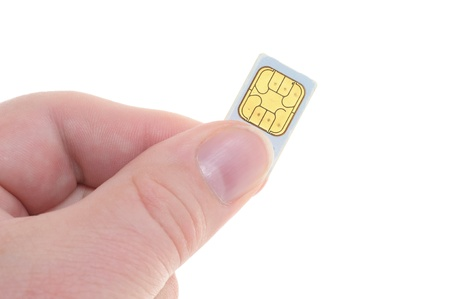 SIM-cards like they are used in mobile phones photo