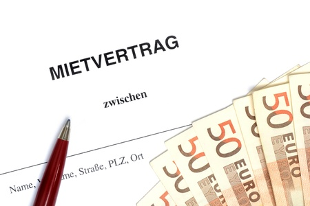 German lease agreement in a studio shot Stock Photo - 12941920