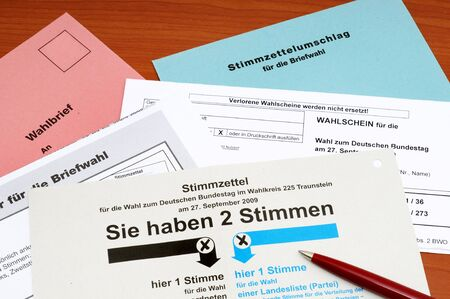 absentee: Official absentee ballot for the German election