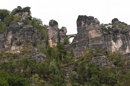 The Elbe Sandstone Mountains are a famous touristic attraction