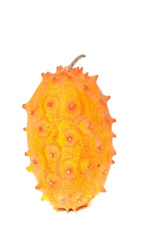 The Kiwano fruit is also named as horned or jelly melon photo
