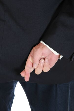 swearing: Hand of a man swearing off