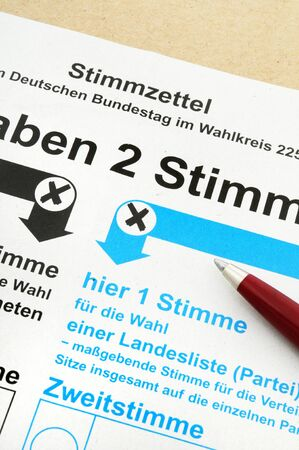 absentee: Absentee ballot for the German election Stock Photo