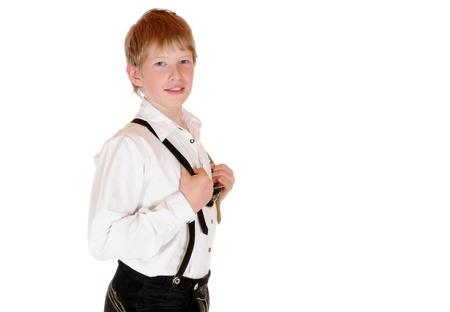 specific clothing: Bavarian boy in Lederhosen