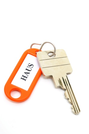 key fob: Key fob Haus - house in a studio shot Stock Photo