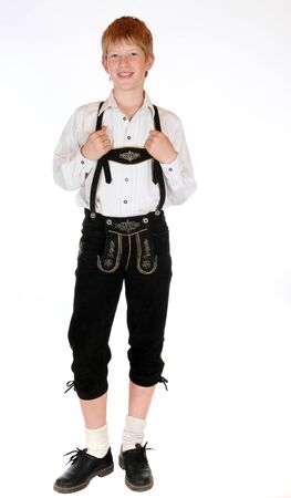 Bavarian boy in Lederhosen Stock Photo - 13073490