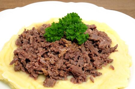 speciality: Reindeer cut with mashed potatoes is a speciality of Scandinavia