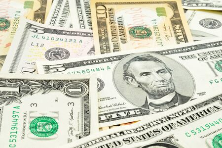 storied: Dollar in a studio shot with selective focus Stock Photo