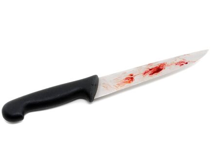 Bloody knife as symbol for a criminal act Stock Photo - 13295438