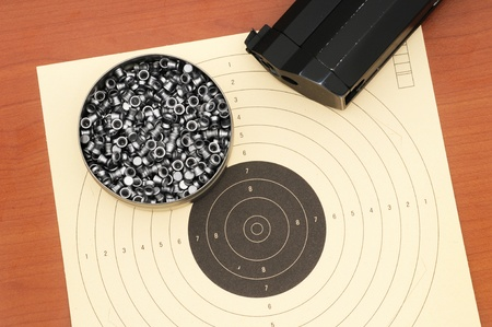 Target shooting with a weapon photo