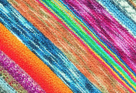Wool in a colorful pattern photo