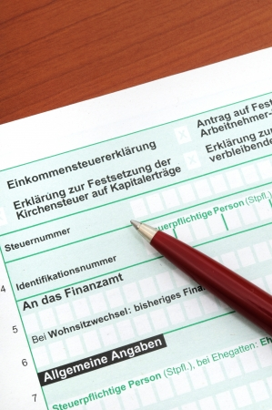 German tax form in front of a white background Stock Photo - 14447747