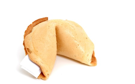 Chinese fortune cookie in a studio shot