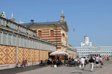 market hall: The old market hall at the harbor of Helsinki