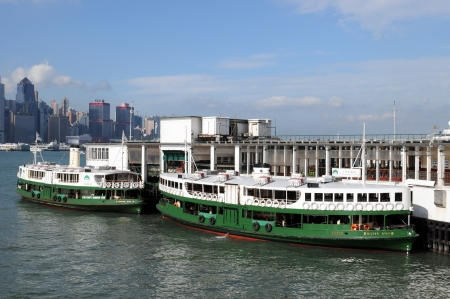 Star ferry to Hongkong Island