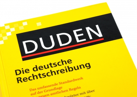 orthography: The Duden is the most important book of German orthography