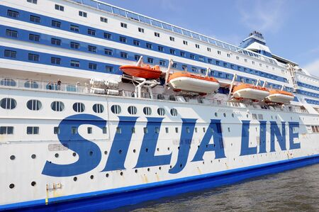 transposition: the ferry Silja Serena in the harbour of Helsinki