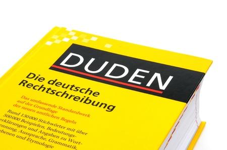 Duden ドイツの正書法の最も重要な本であります。 報道画像