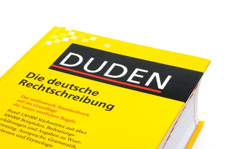 The Duden is the most important book of German orthography