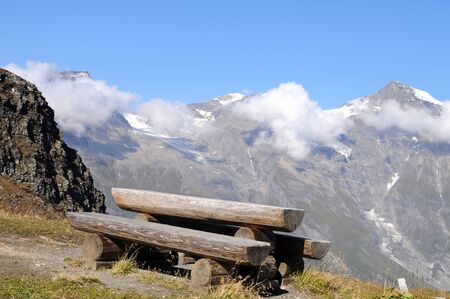 Cosy picnic area at the Grossglockner alpine road Stock Photo - 14637831