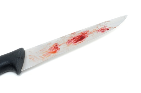 Bloody knife as symbol for a criminal act Stock Photo - 14658727