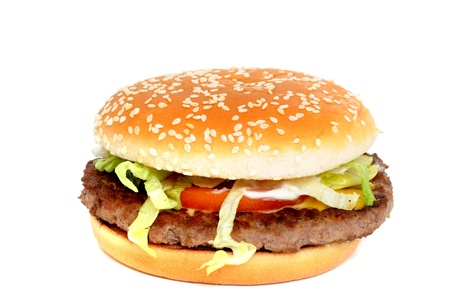 Burger from the fast food restaurant photo