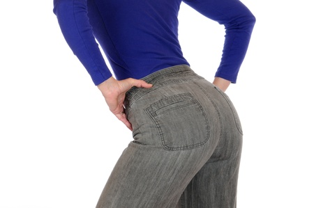 Slim woman with her back to the camera photo