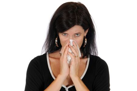Mid adult woman has caught a flu   photo