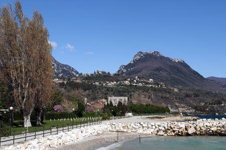 maderno: Lago di Garda in Italy in early spring