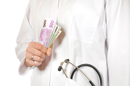 Doctor in white coat with stethoskop Stock Photo - 15348493