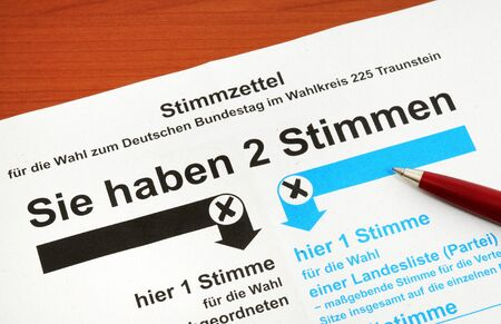 absentee: Absentee ballot for the German election, no personal informations, no copyright  Stock Photo