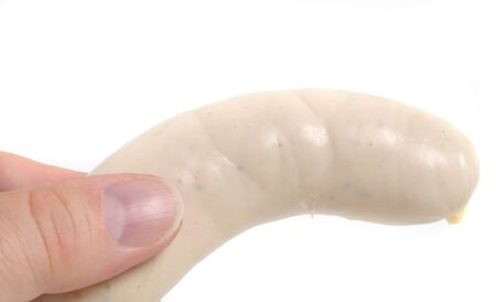 weisswurst: The Weisswurst is a traditional bavarian cuisine   Stock Photo