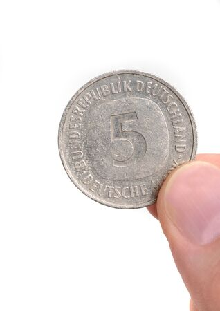 deutschemarks: Five Deutschmark, meanwhile not valid any more