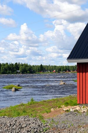 scandinavian peninsula: The Tornionjoki river is the border between Finland and Sweden  The cataracts are a famous fishing ground