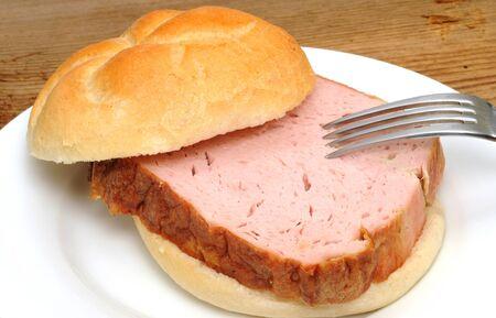leberkaese: A Leberkaese roll is a typical bavarian breakfast